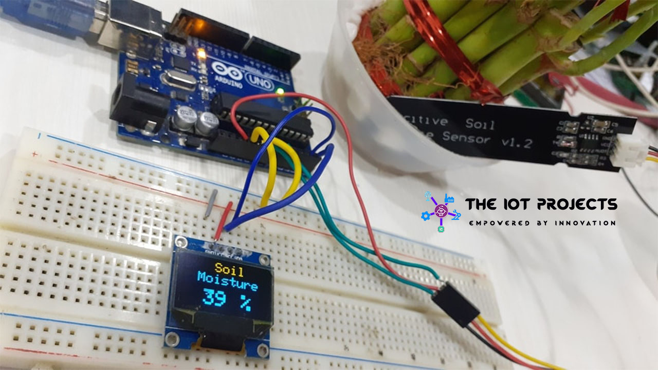 Capacitive Soil Moisture Sensor with OLED Display & Arduino