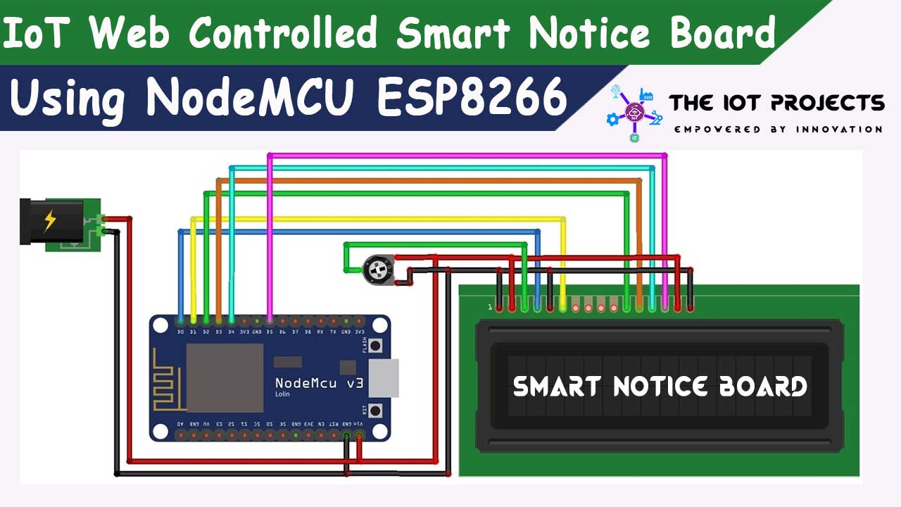 IoT Web Controlled Smart Notice Board using NodeMCU ESP8266