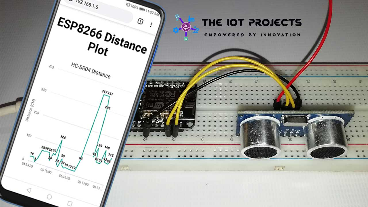 ESP8266 Plot Sensor readings to Webserver in Real-Time Chart