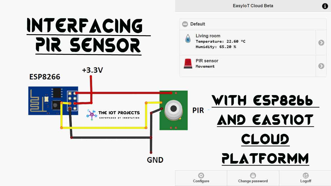 Interfacing PIR Sensor with ESP8266 and EasyIoT