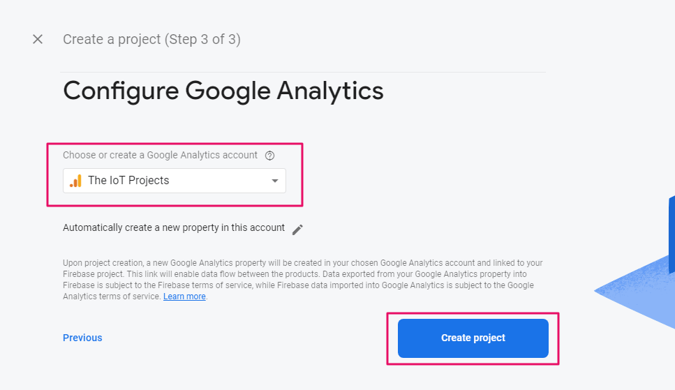 Choose analytics profile